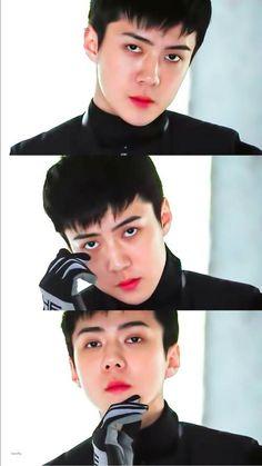 Sehun   #ExoObsession #exoobsession Sehun, Exo, Winter Hairstyles, Dream Guy, Hair Color, Guys, Eye Palette, Popsicles, Hair Colors