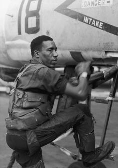General Frank E. Petersen, the first black Marine aviator and the first black Marine general. He passed away August 25, 2015 at age 83. Read his obituary in the NY Times.