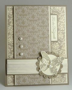 handmade card for wedding - Google Search