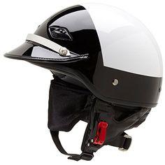 Official Police Motorcycle Helmet w/ Patent Leather Visor (Black/White, Size XL). Black/White Hi-Rise Paint Scheme. Includes Zip Off Ear & Neck Warmer. Best Leather Motorcycle Jacket, Motorcycle Outfit, Motorcycle Helmets, Bicycle Helmet, Riding Helmets, Motorcycle Clothes, Ls2 Helmets, Half Helmets, Vintage Helmet