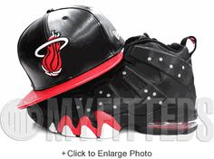 f5c1c95f8d67f9 Miami Heat Leather Duo Jet Black Scarlet Glacial White NBA New Era Snapback  UP NOW ON