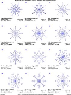 snowflake embroidery pattern - Google Search