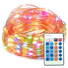 Outdoor String Lights Multicolor Dimmable LED String 33 ft & Remote Control New #TaoTronics