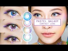 Pastel Galaxy Contact Lens JellyJune - YouTube