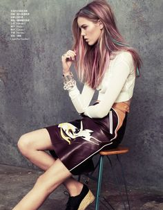 @Holly Richins something like this? :) color color color  Josefien Rodermans by Naomi Yang for Vogue Taiwan