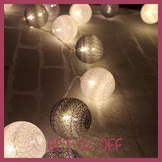 Cool color series Cotton ball string lights luces led decoracion Holiday guirlande led bedroom garland lights kerst lichterkette