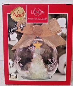 "Lenox ""Wonder Ball"" Christmas Tree Lit Ornament - 4 3/4"" - NIB"
