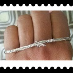 Bracelet ~White Gold bracelet with baguette Diamonds. ~Price is firm. ~ no trading at this time. Jewelry Bracelets