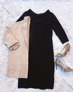 Fashion Look Featuring Boden Plus Dresses and Sam Edelman Pumps by TheRecruiterMom - ShopStyle Plus Dresses, Dresses For Work, Leopard Heels, Fall Outfits For Work, Work Looks, Classic Looks, Work Wear, What To Wear, Fashion Looks
