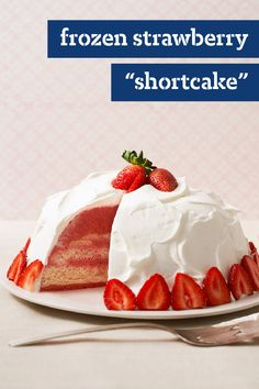 """Frozen Strawberry """"Shortcake"""" – Need a dessert recipe that's prepped in just 15 minutes? No problem. Hawaiian rolls are the secret ingredient in our stunning take on strawberry shortcake."""