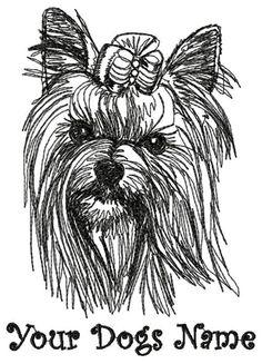 YORKSHIRE TERRIER YORKIE Personalized Embroidered Dog Breed T-shirt YM-Adult Xlg #HanesorPortCompany #ShortSleeveCrewneckTshirt