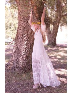 Robe de mariée vintage hippie