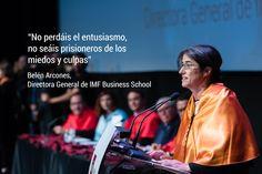 Belén Arcones, Directora General de IMF Business School, ofreció las palabras más emotivasen la Graduación de IMF.