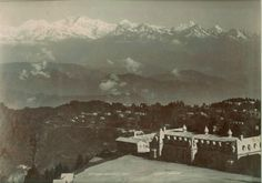Mt. Kanchenjunga as seen from St. Paul's School, Darjeeling. C1890