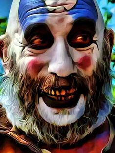 OMG that's creepy Rob Zombie Art, Rob Zombie Film, Zombie Movies, Scary Movies, Horror Movies, Clown Horror, Creepy Clown, Arte Horror, Halloween Horror