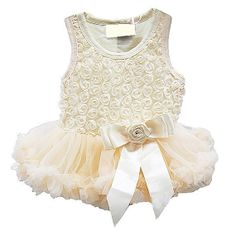 Sweet Heart Rosette Cream Baby Holiday