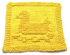 Knitting Cloth Pattern - RUBBER DUCK - PDF