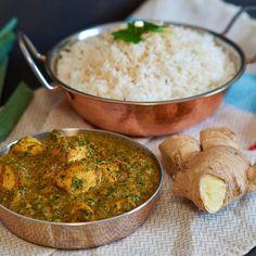 Palak Chicken - indisches Hühnchen Spinat Curry