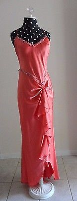 ❗ NEW LISTING 8.00 @SalesForToday   Dave And johnny Laura Ryner Formal High Slit Dress Style #2624 Coral Prom Gown 7-8