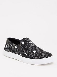 Women Shoes Slipon Canvas Shoes Casual Sneakers Colorful Flower cat Sleeping in Grass Plimsoll Designer