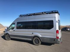 Ford Transit with Aluminess roof rack.  Photo cred: Mike Barnwell