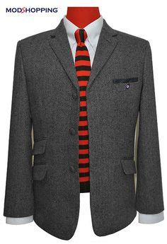 Mod shopping - TWEED GREY HERRINGBONE JACKET, £139.00 (http://www.modshopping.com/tweed-grey-herringbone-jacket/)