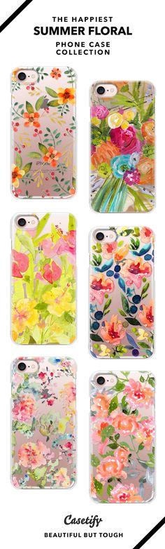The Happiest Summer Floral Phone Case Collection - iPhone 6/6s/7/7+ AND MORE! Shop them here ☝️☝️☝️ BEAUTIFUL BUT TOUGH ✨  - Summer, Tanned, Flower, Water color, Art, DIY, Bloom, Floral, Drawing