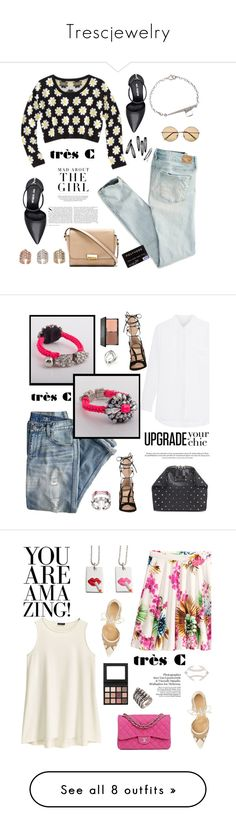 """""""Trescjewelry"""" by sabinakopic ❤ liked on Polyvore featuring trescjewelry, Kershaw, Xhilaration, American Eagle Outfitters, Marc by Marc Jacobs, H&M, River Island, Nine West, J.Crew and Alexander McQueen"""