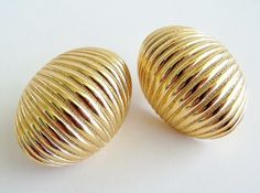 DIOR Golden Domes Earrings by SunshineSurprises on Etsy, $24.00
