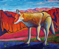 Searching the High Country - Coyote by joe triano Acrylic ~ 20 x 24 kK Native Art, Native American Art, Buffalo Painting, Thing 1, Cow Art, Country Paintings, Southwest Art, Country Art, Wildlife Art