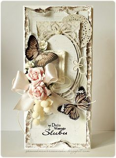 Made by Groszek: Kartka ślubna/Wedding card