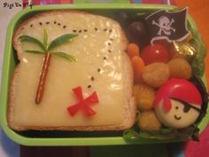 one of my toddlers had a pirate themed lunch quite similar to this and it even included a cute note  :)