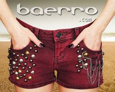 Distressed  women's  straignt fit(mid rise) denim shorts by Baerro. #baerro #FashionTrendandDesignStudio