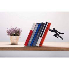 Serre-livres métal original book and hero artori design Métal, système d'aimant. 20 x 12 x 17 cm Fabriqué en Suède