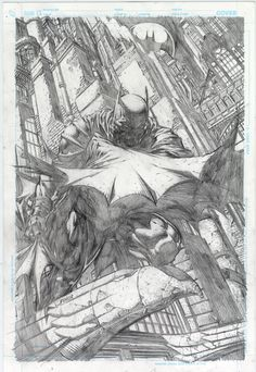 David Finch Comics   David Finch's Cover to Batman # 700