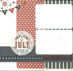 2 page Scrapbooking Layout Kit  Independence Day by CropALatteToGo