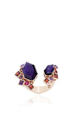 http://rubies.work/0675-ruby-rings/ Gold struck crystal haze amethyst open ring by STEPHEN WEBSTER Preorder Now on Moda Operandi