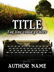 Typewriter and Road - Customizable Book Cover  SelfPubBookCovers: One-of-a-kind premade book covers where Authors can instantly customize and download their covers, and where Artists can post a cover and name their own price.