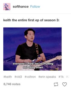 Keith in 3x01 - Stephen Yeun