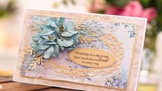 Signature Ideas, Crafters Companion, Vintage Lace, Birthday, Frame, Projects, Handmade Cards, Butterflies, Card Ideas