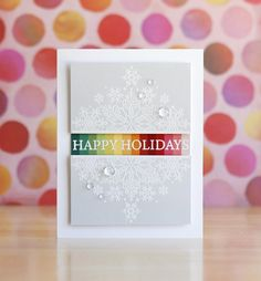 Christmas Cards To Make, Holiday Cards, Holiday Time, Christmas Greetings, Rainbow Paper, Unique Cards, Winter Cards, Pretty Cards, Business For Kids