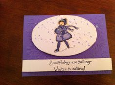 Stampin Up Winter Is Calling Snowflakes Are Falling Card Kit