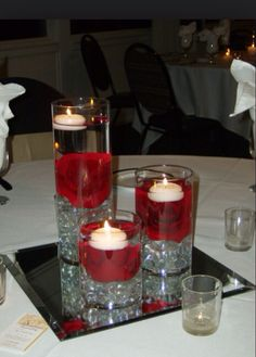 Red rose center piece