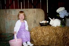 Beautiful Easter picture set up by LeAnn Browning Photography.
