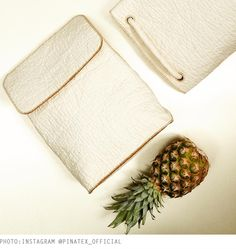 piñatex - this fake leather is made from pineapple fibres