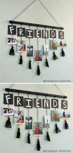 Photo Wall Hanging Family photos are one thing, but let's not forget about all the fun selfies we take with our best friends! They deserve an awesome DIY photo display as well! Diy Crafts Photo Frame, Diy Crafts For Home Decor, Diy Crafts Hacks, Diy Crafts For Gifts, Creative Crafts, Photo Frames Diy, Paper Photo Frame Diy, Photo Frame Ideas, Diy Photo Frame Cardboard
