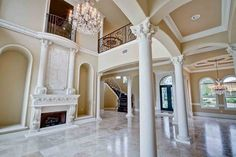 Your guests will be thrilled with this soaring volume and coffered ceiling!