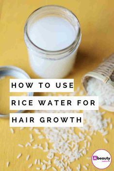 Rice water for hair growth. How to use rice water to grow your hair? Rice water looks like a milky liquid, and that's because of the starch residue left behind from the rice. It is rich in minerals and vitamins and makes for a healthy drink. Rice water t Hair Remedies For Growth, Home Remedies For Hair, Hair Growth Tips, Hair Tips, Fast Hair Growth, Hair Ideas, Hair Growth For Men, How To Grow Natural Hair, Natural Hair Growth