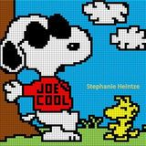 Joe cool Snoopy Woodstock Peanuts crochet graph graphgan pattern perler hama *pinned with authors permission Graph Crochet, Pixel Crochet, C2c Crochet, Tapestry Crochet, Cross Stitching, Cross Stitch Embroidery, Cross Stitch Patterns, Beaded Snoopy, Cross Stitch Boards
