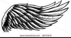 Wing tattoo design lines by Nikolay Sparkov - Girly Tattoos, Badass Tattoos, Neck Tattoos, Love Tattoos, Body Art Tattoos, Small Tattoos, Tattoos For Guys, Tatoos, Wing Tattoo Designs